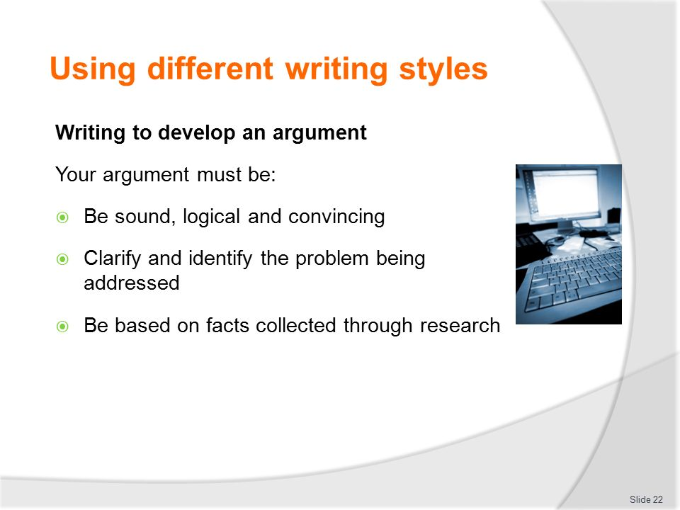 different types of writing styles