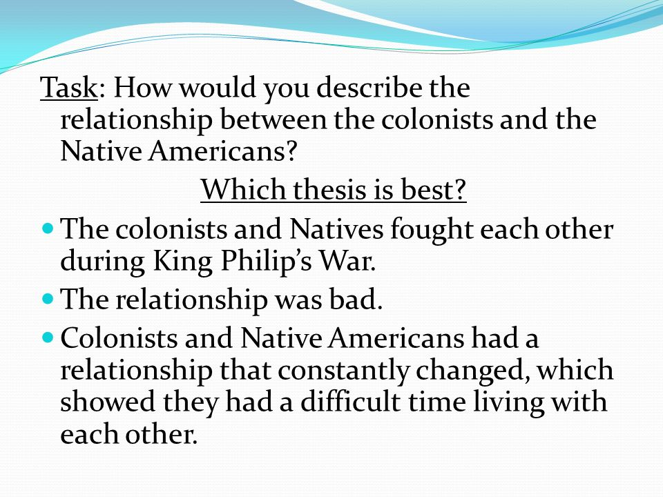 the relationship between native americans whites