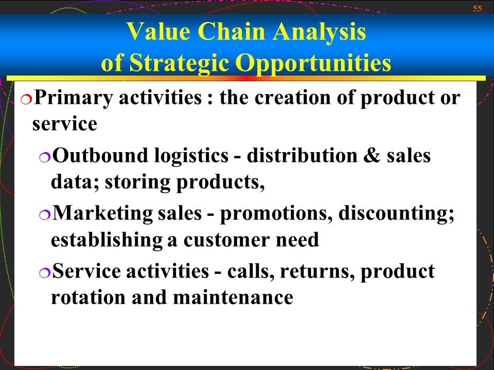 The strategic tool of value chain analysis