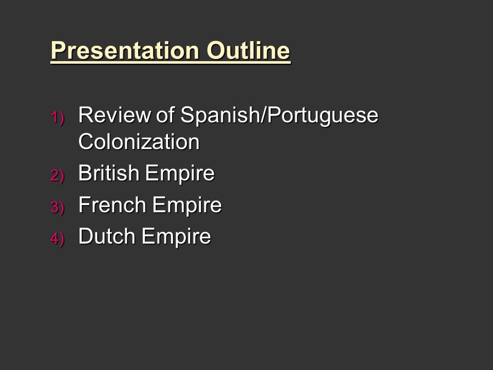 spanish dutch and british empires Apush review: spanish, english, french, and dutch colonization  england  sent large amounts of men and women to colonies, focused on agriculture, and .