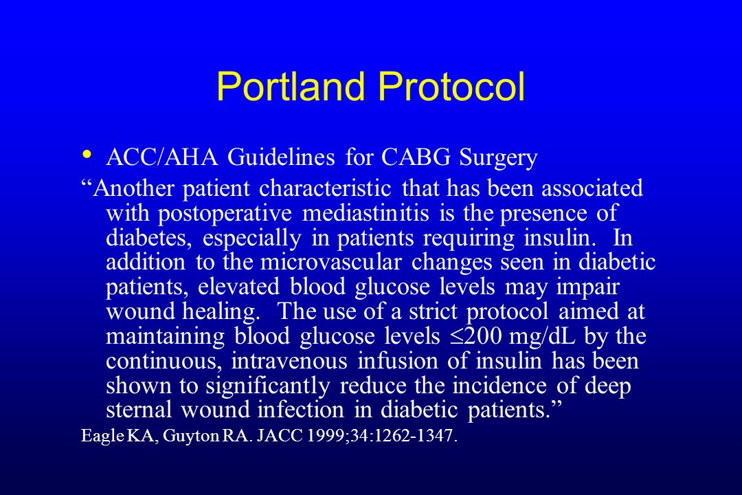 Portland Protocol ACC/AHA Guidelines for CABG Surgery