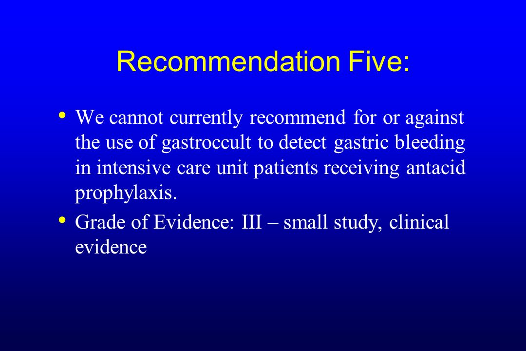 Recommendation Five: