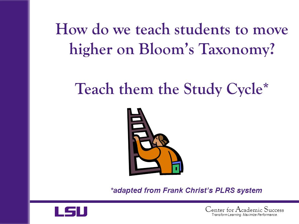 How do we teach students to move higher on Bloom's Taxonomy