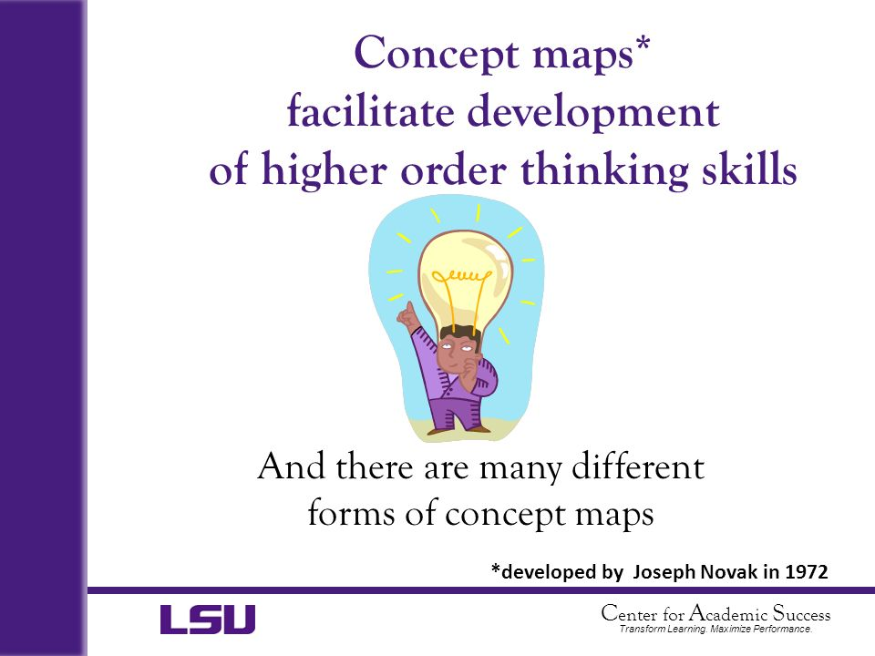 Concept maps* facilitate development of higher order thinking skills