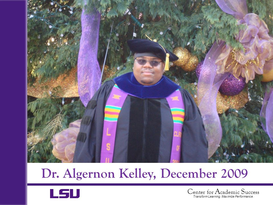 Dr. Algernon Kelley, December 2009