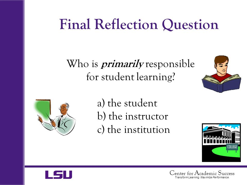 Final Reflection Question