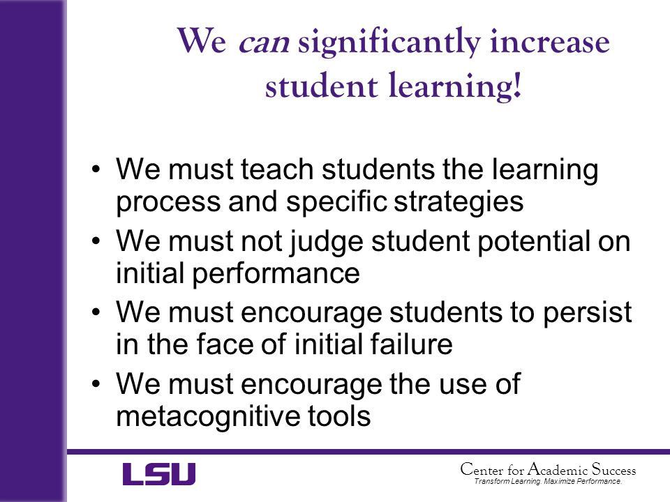 We can significantly increase student learning!