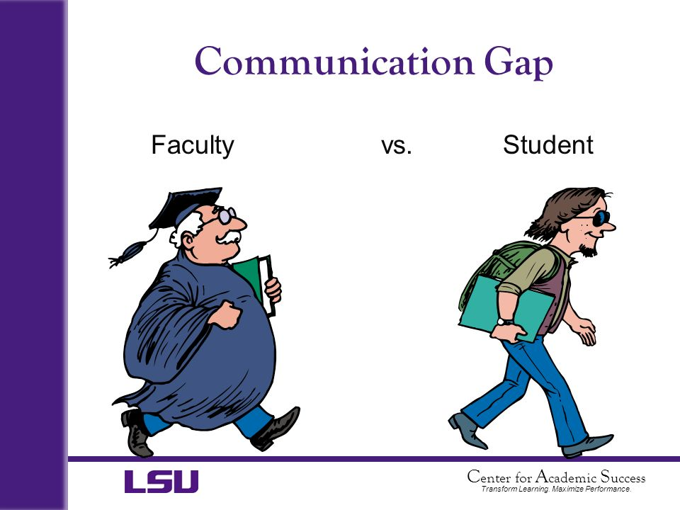 Communication Gap Faculty vs. Student