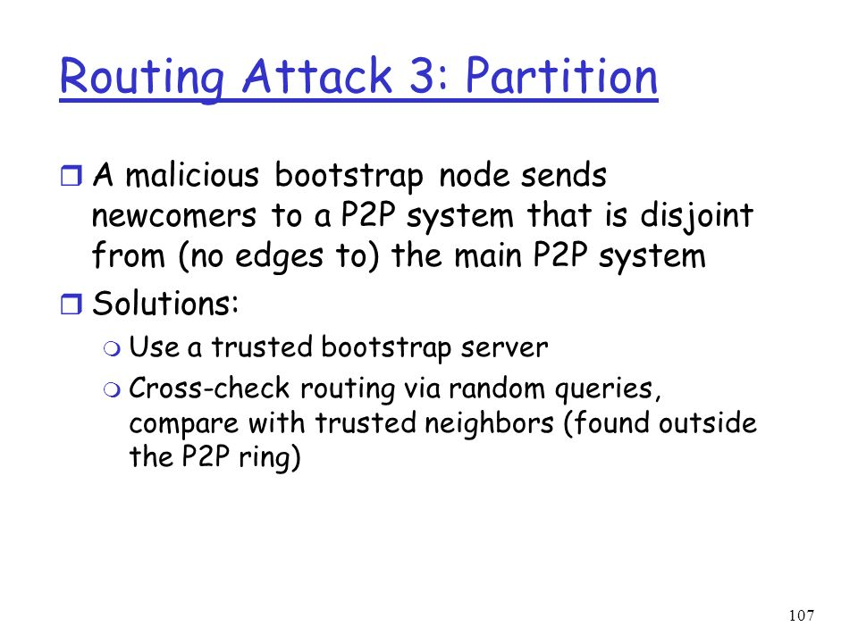 Routing Attack 3: Partition