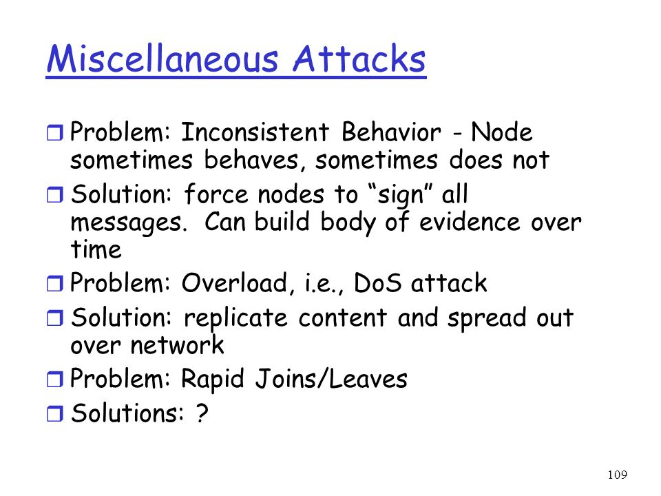 Miscellaneous Attacks