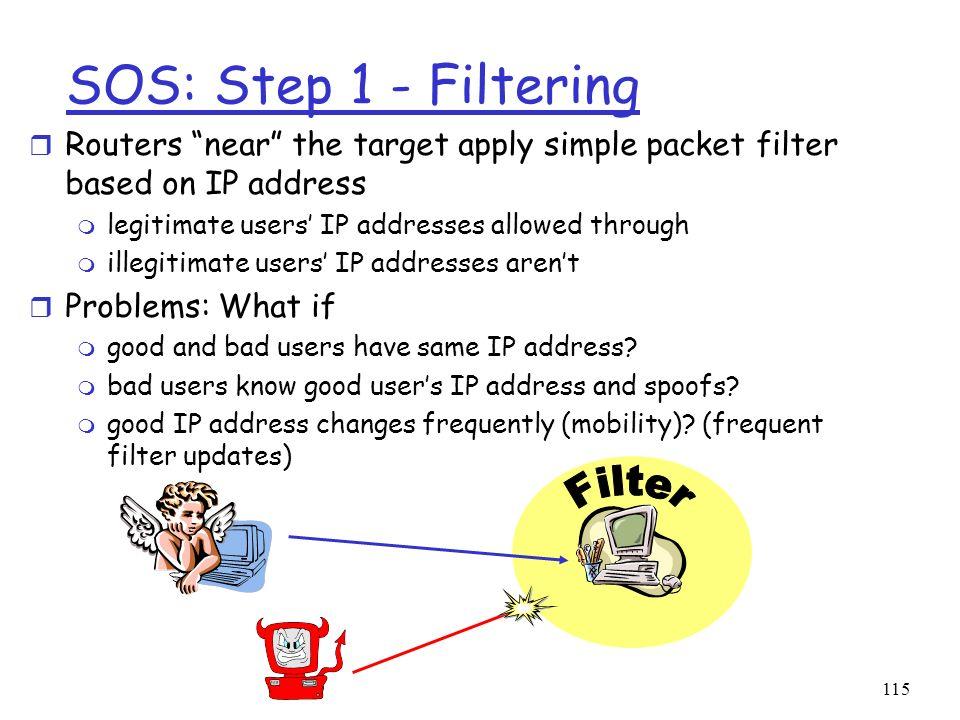 SOS: Step 1 - Filtering Filter