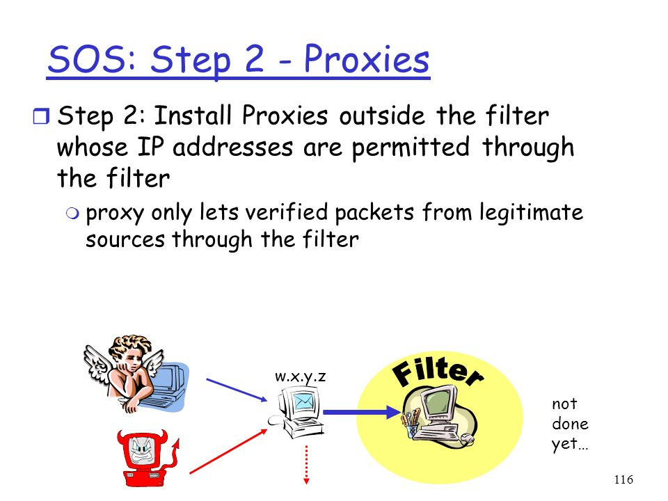 SOS: Step 2 - Proxies Filter