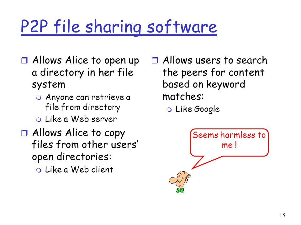 P2P file sharing software