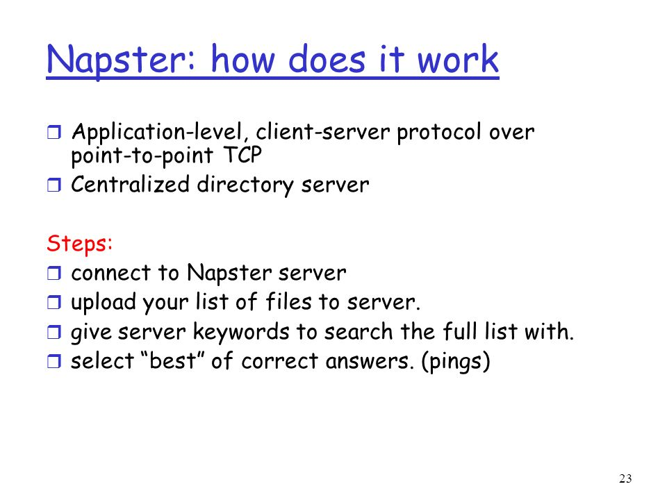 Napster: how does it work