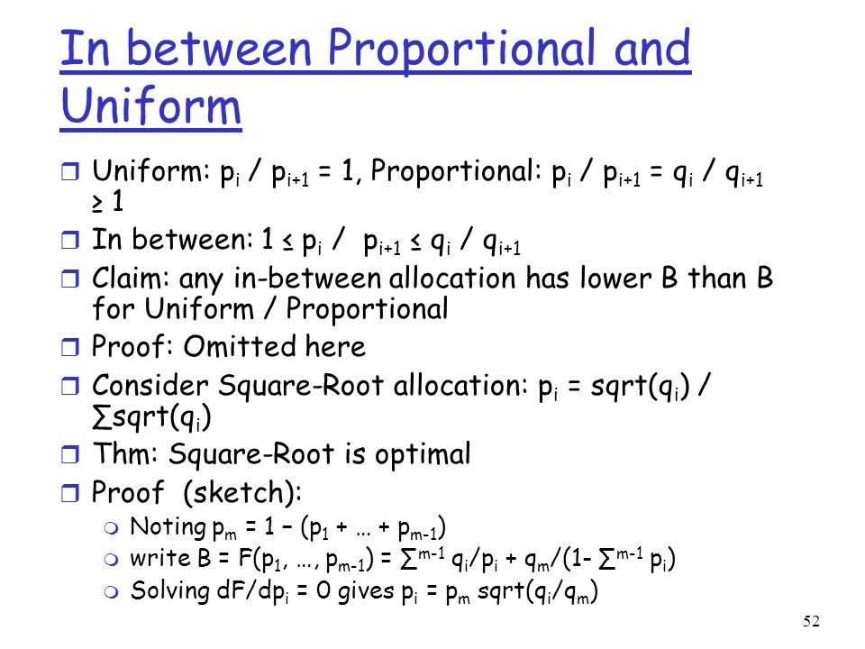 In between Proportional and Uniform