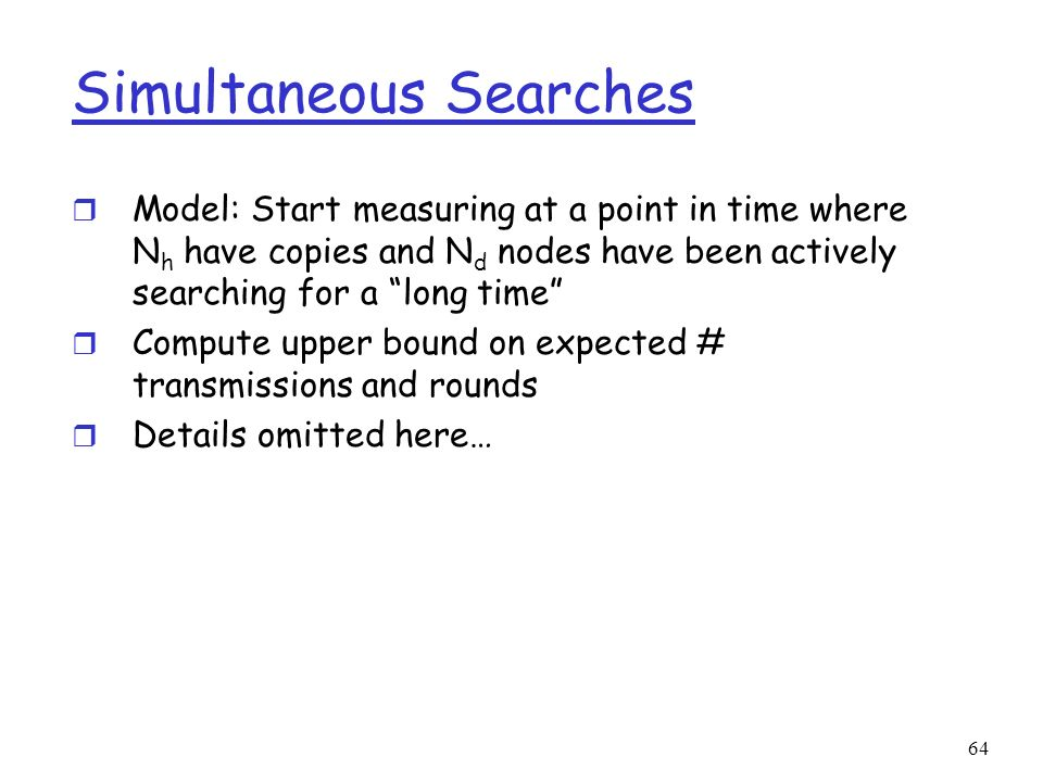 Simultaneous Searches