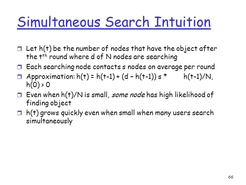Simultaneous Search Intuition