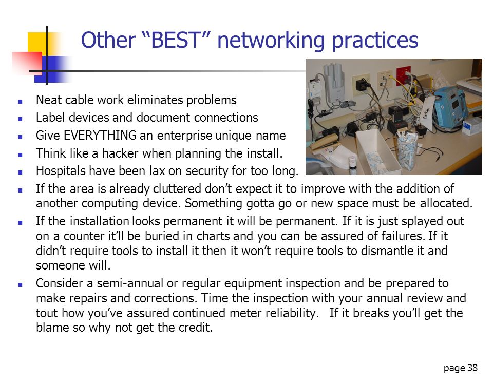 Other BEST networking practices