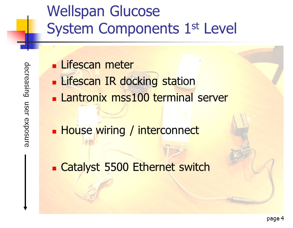 Wellspan Glucose System Components 1st Level