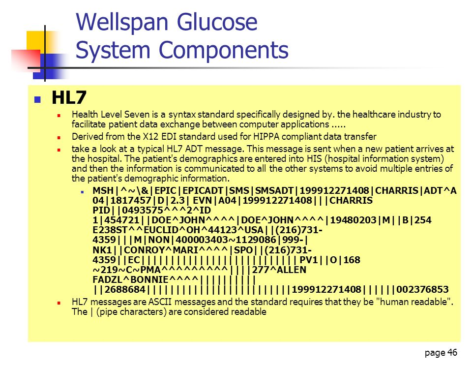 Wellspan Glucose System Components