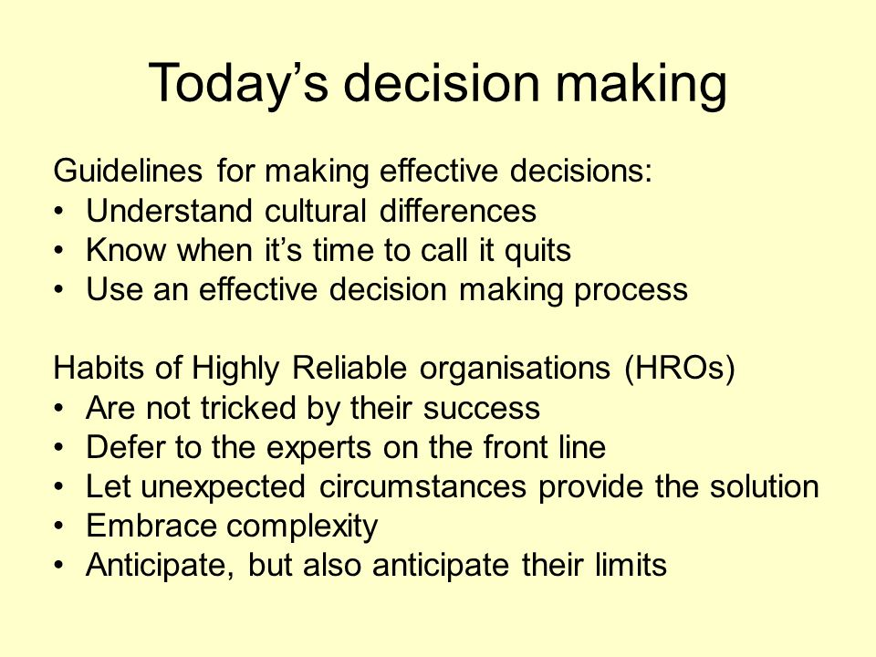 guideline for creating successful decision support Practice guidelines series by talya n bauer, phd sponsored by right management onboarding new employees: maximizing success talya n bauer, phd  on organizational decision-making and.