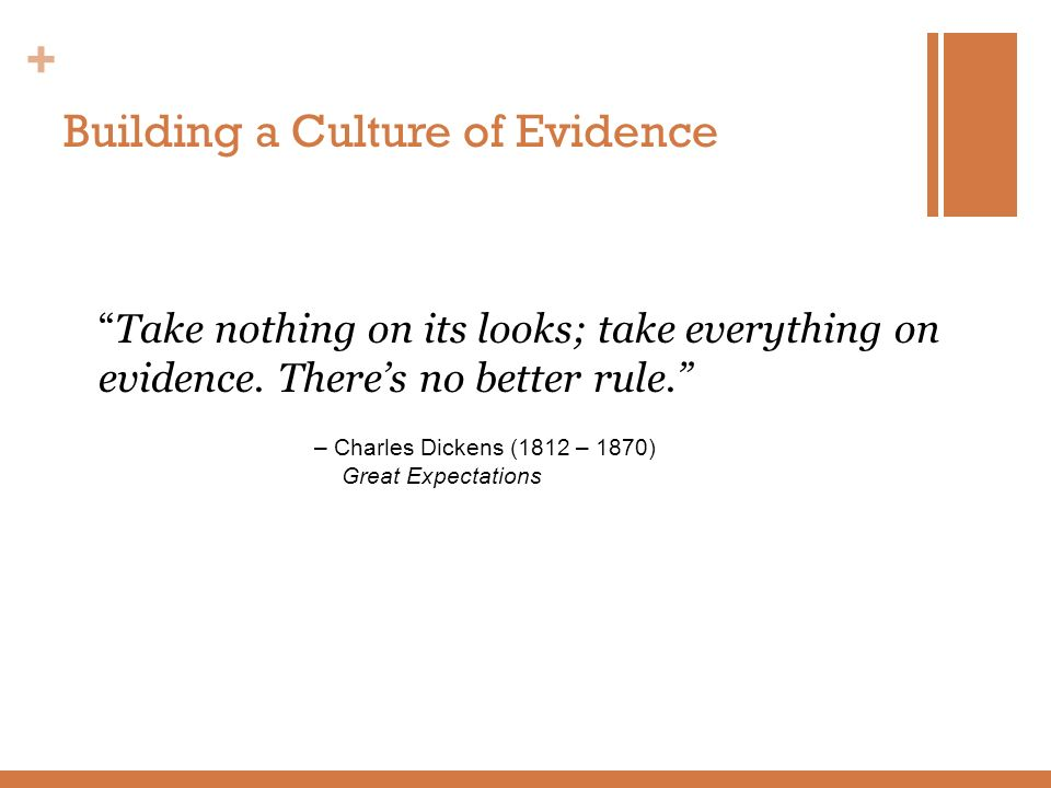 Building a Culture of Evidence