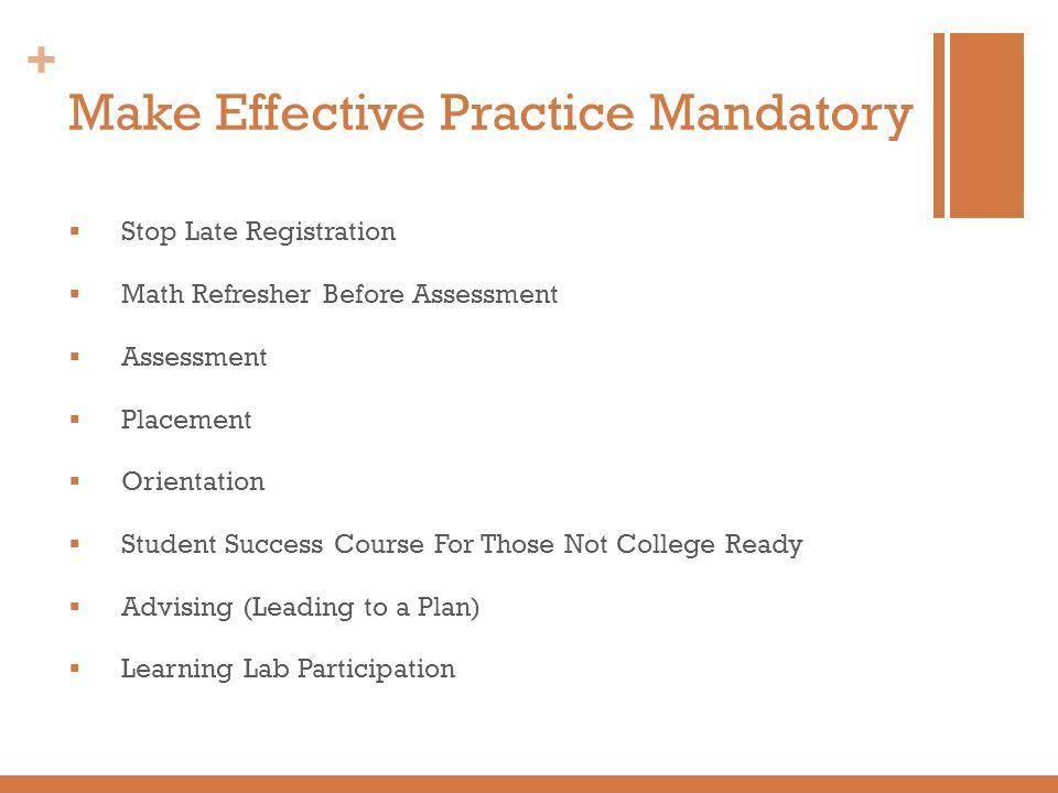 Make Effective Practice Mandatory