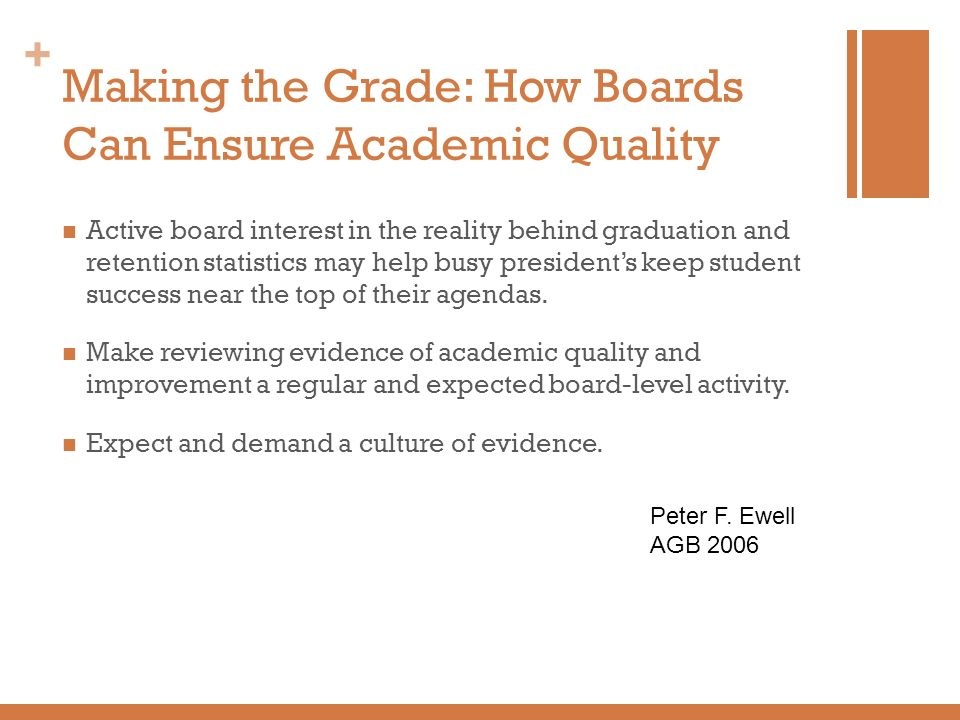Making the Grade: How Boards Can Ensure Academic Quality