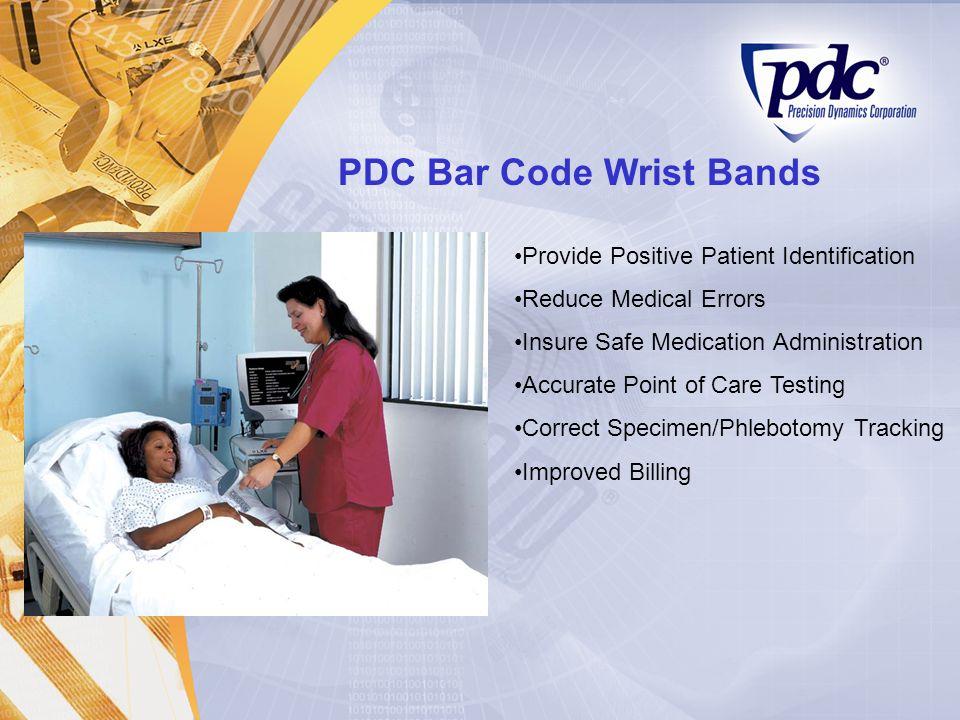 PDC Bar Code Wrist Bands
