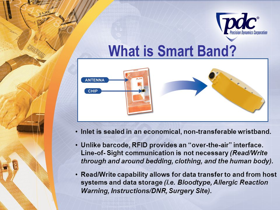 What is Smart Band Inlet is sealed in an economical, non-transferable wristband.