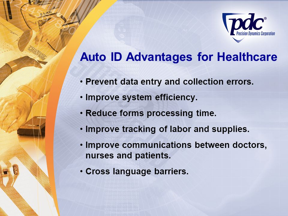 Auto ID Advantages for Healthcare