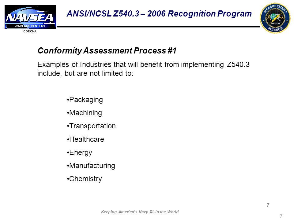 ANSI/NCSL Z540.3 – 2006 Recognition Program