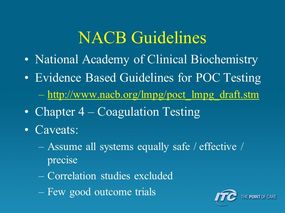 NACB Guidelines National Academy of Clinical Biochemistry