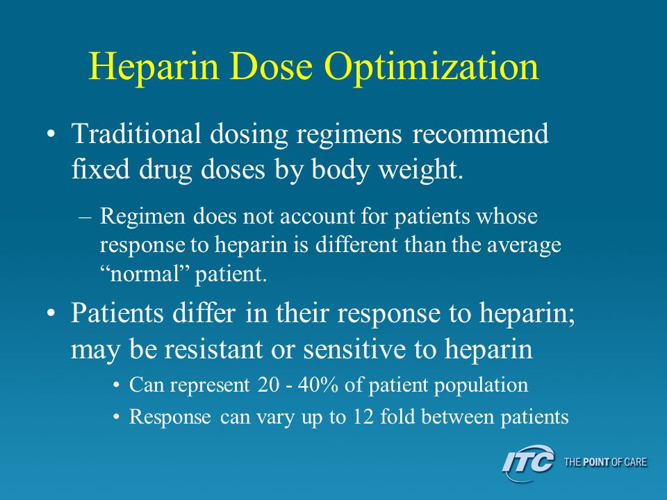 Heparin Dose Optimization