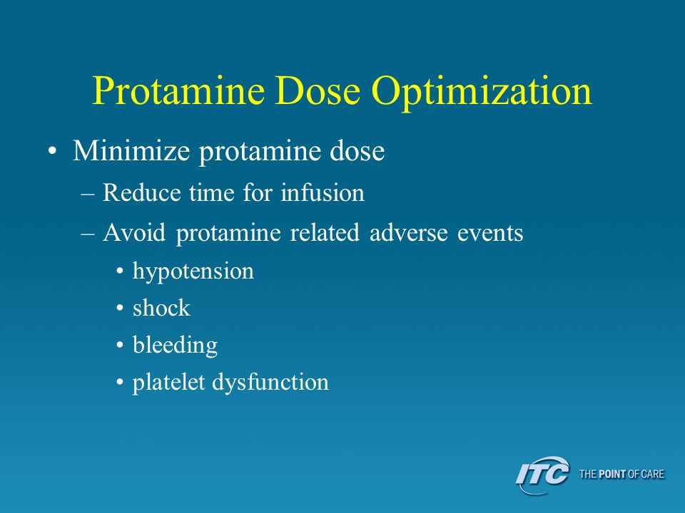 Protamine Dose Optimization