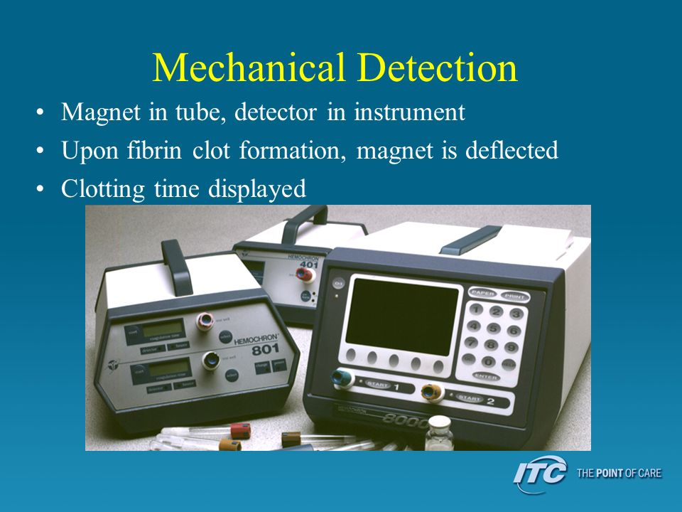 Mechanical Detection Magnet in tube, detector in instrument