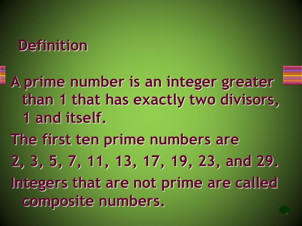 The first ten prime numbers are