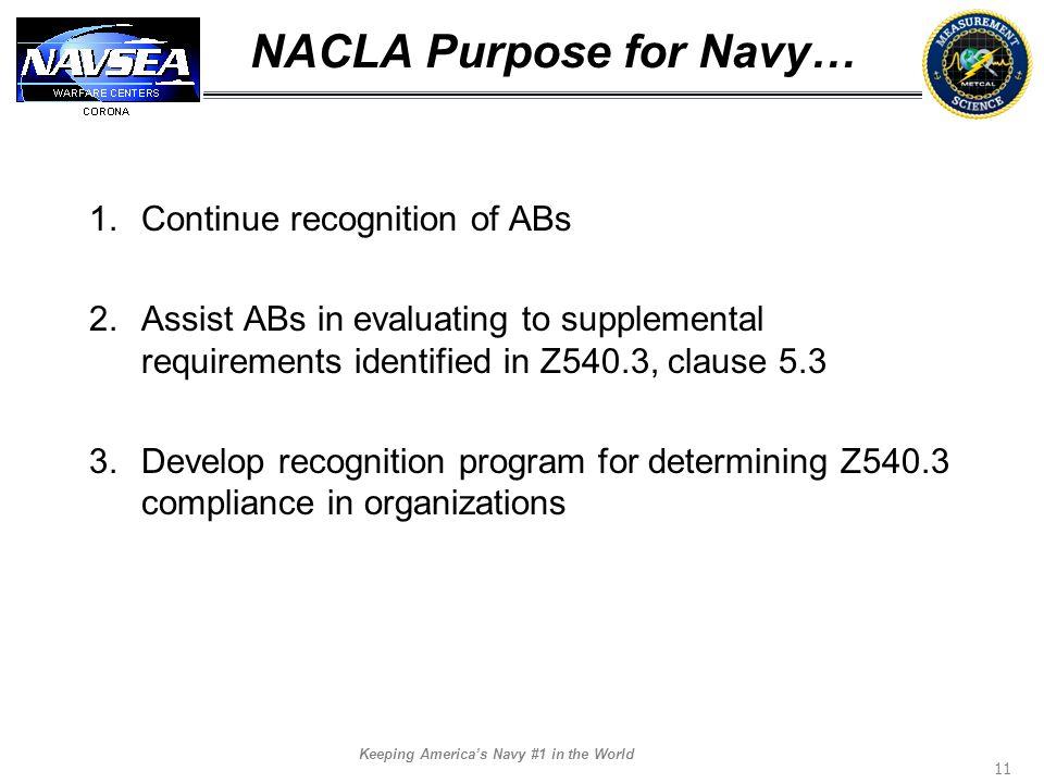 NACLA Purpose for Navy…