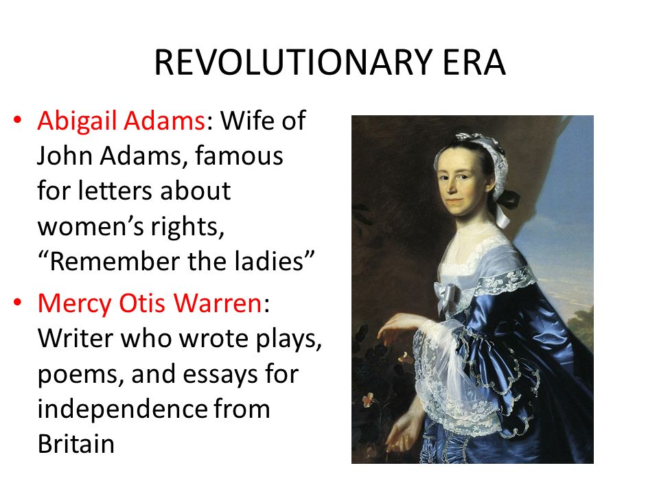 a leadership paper on abigail adams essay