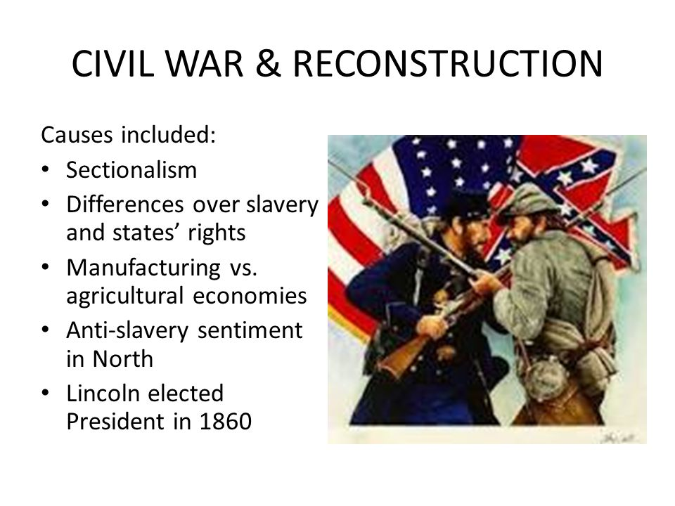 reconstruction policies of the civil war