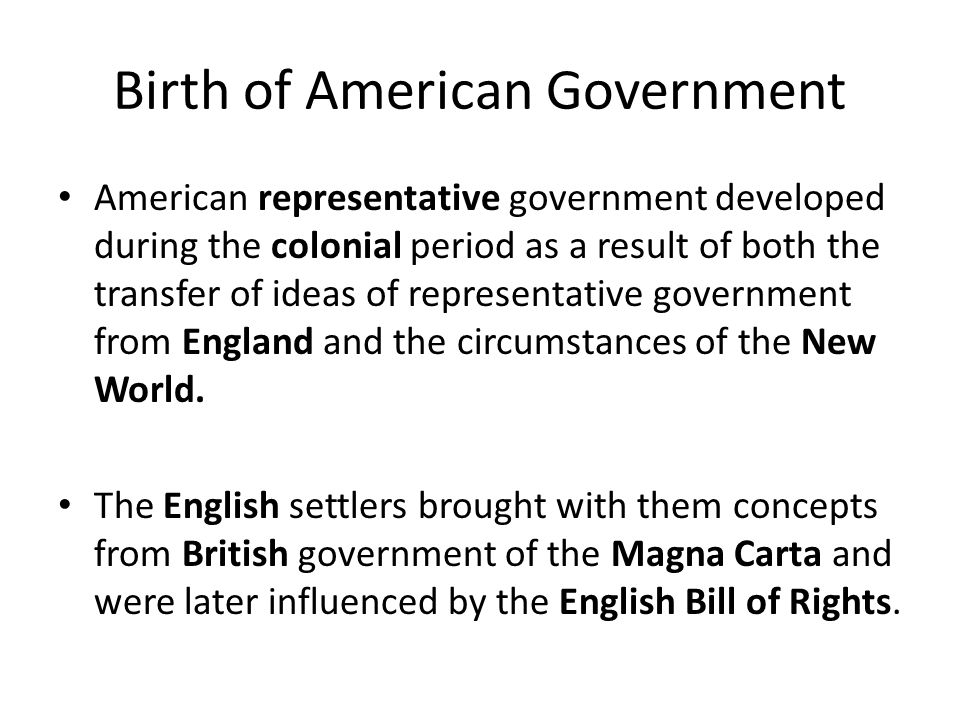 an analysis of british representative government in the american colonies A summary view of the rights of british america possessed by the american intitled an act for granting certain duties in the british colonies and.