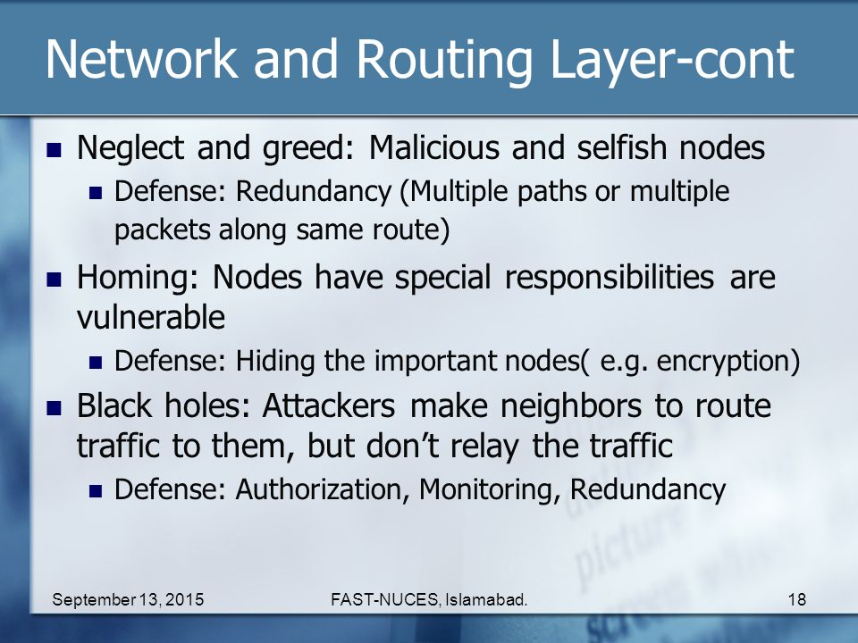 Network and Routing Layer-cont
