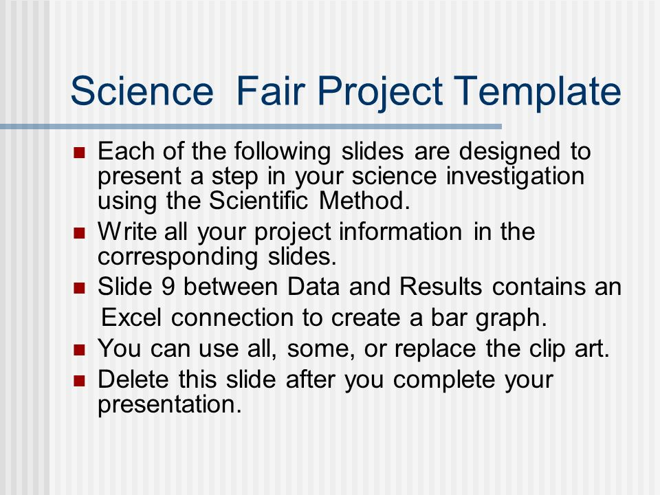 science fair project template ppt download. Black Bedroom Furniture Sets. Home Design Ideas