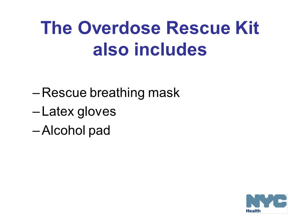 The Overdose Rescue Kit also includes