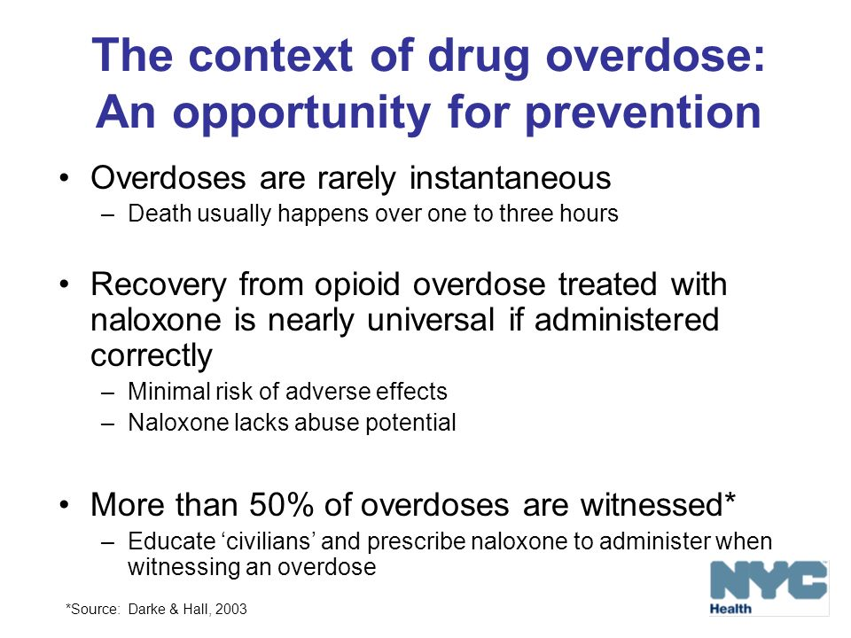 The context of drug overdose: An opportunity for prevention