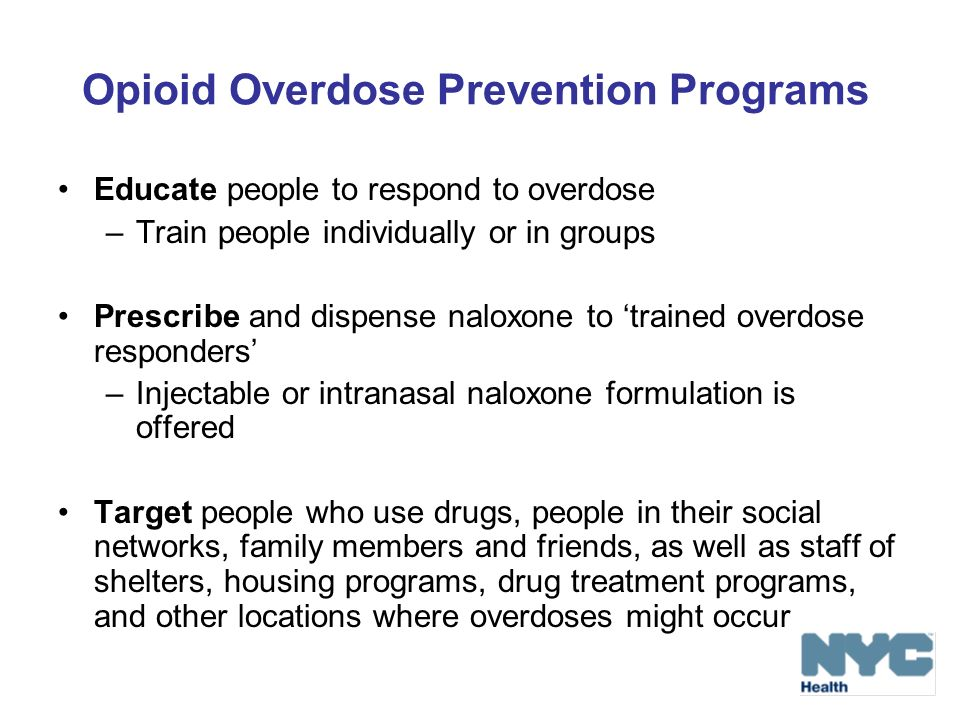 Opioid Overdose Prevention Programs