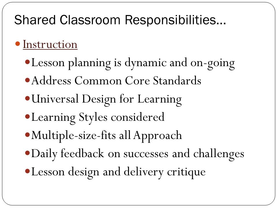 Classroom Design And Delivery ~ Inclusive practices making it work co teaching model