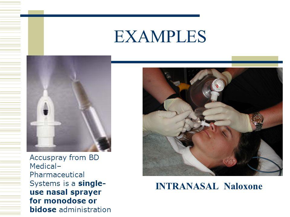 EXAMPLES INTRANASAL Naloxone