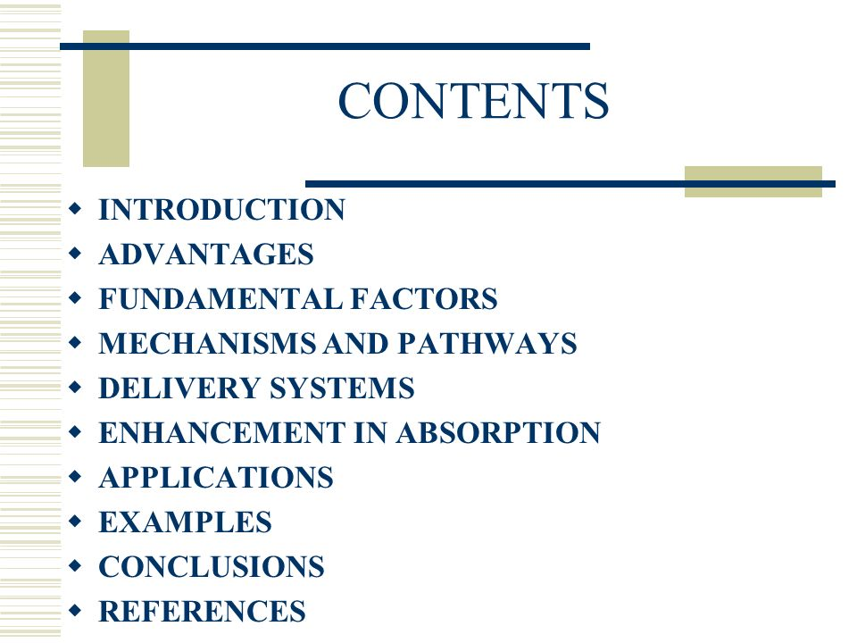 CONTENTS INTRODUCTION ADVANTAGES FUNDAMENTAL FACTORS