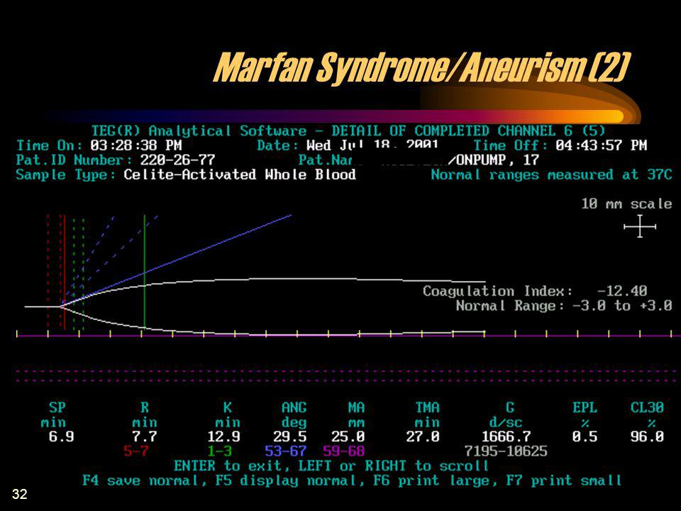 Marfan Syndrome/Aneurism (2)